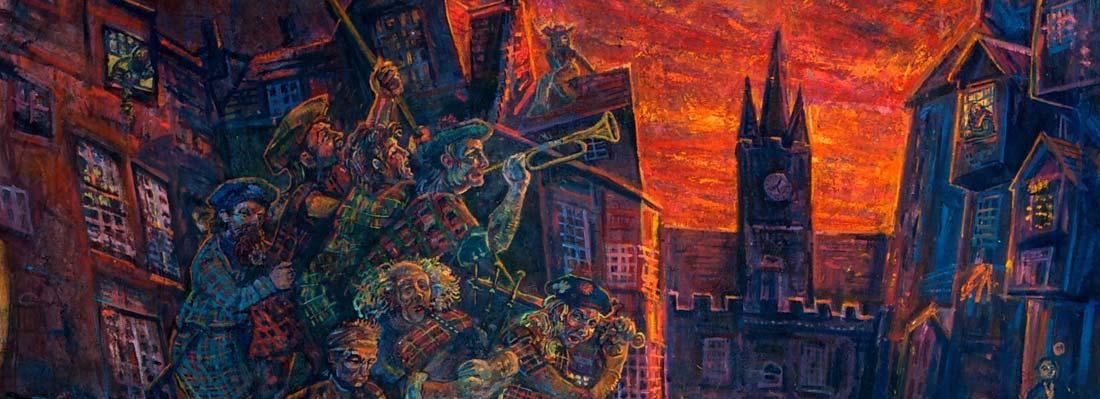 Jacobite Stramash mural